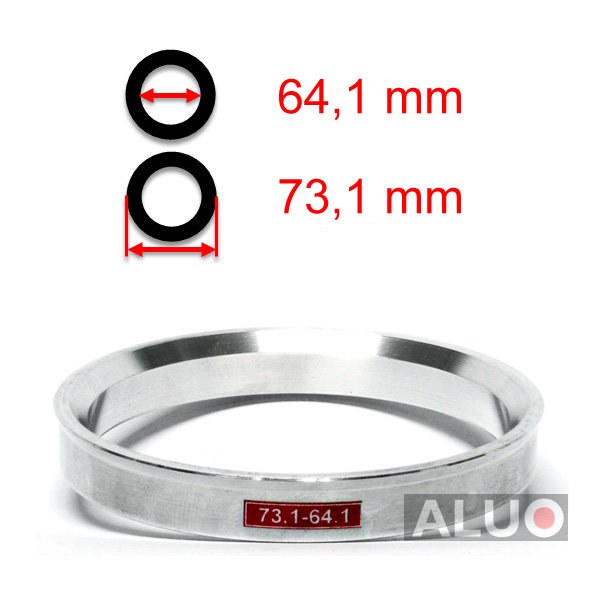 ALUMINIUM CENTREERRINGEN 73,1 - 64,1 mm ( 73.1 - 64.1 )